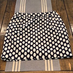 Ann Taylor Loft Navy and white skirt